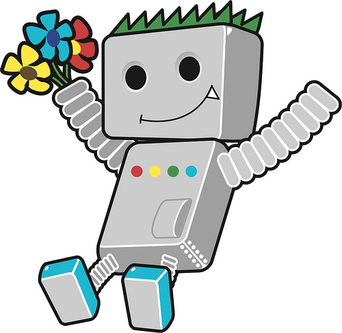 Robot Google referencement SEO Image